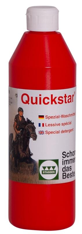Quickstar specialtvättmedel från Stassek Hogsta Ridsport.