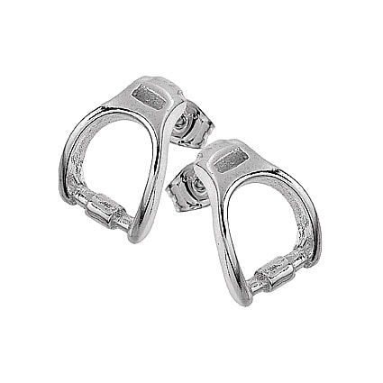 Stirrup earrings in silver