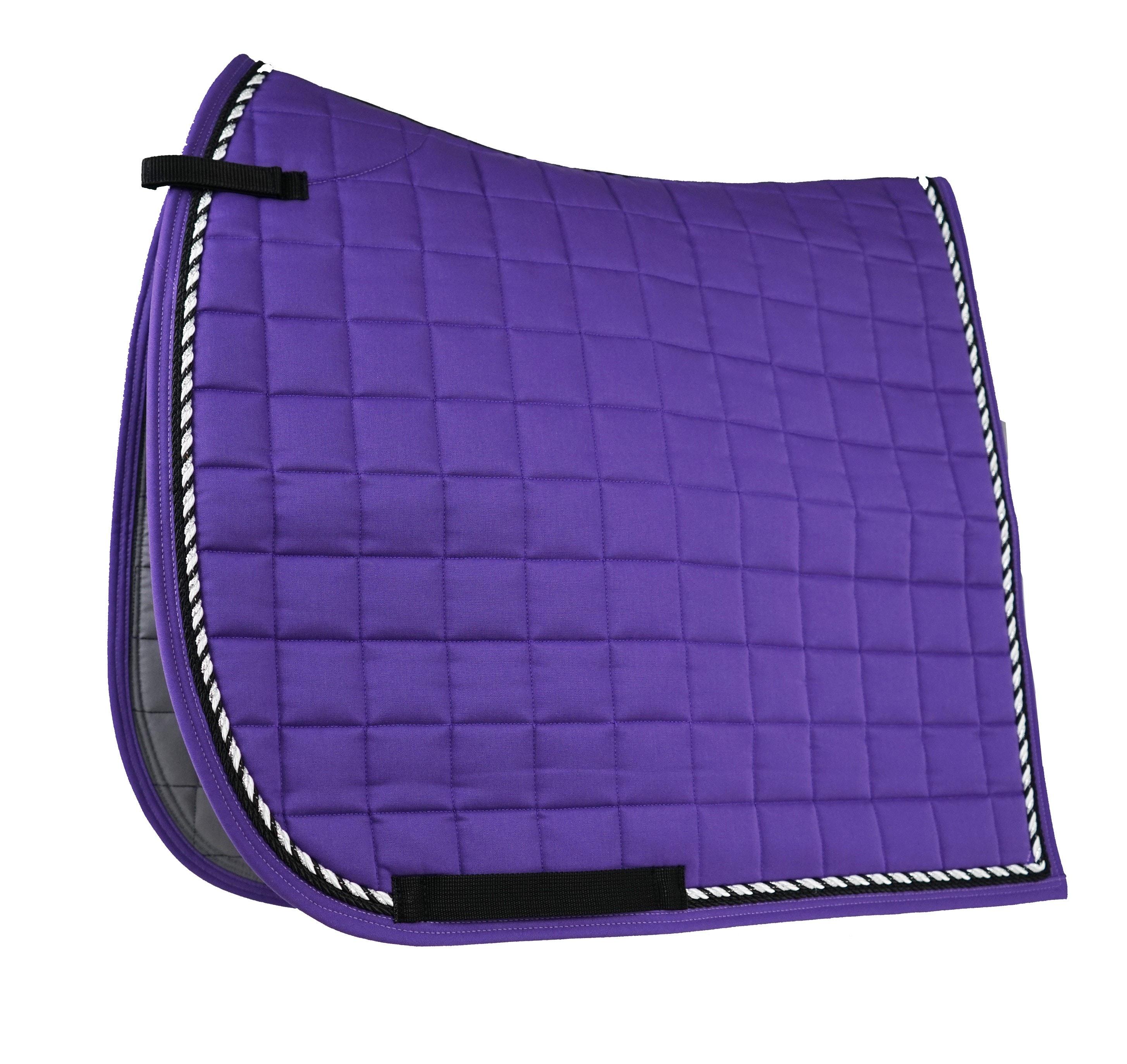 Dressage saddle pad - Purple/Black/Silver