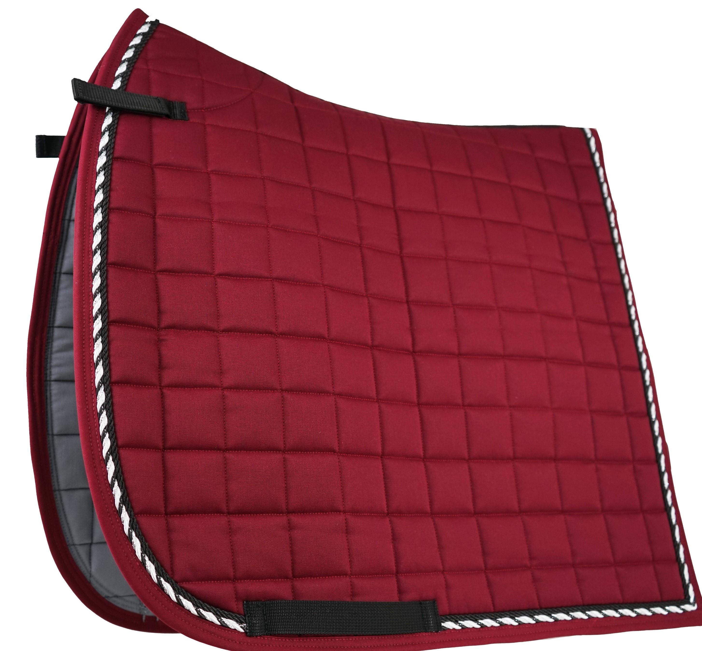 Dressage saddle pad - Bordeaux/Black