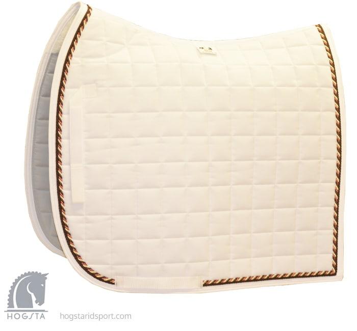 Dressage Saddle Pad - White/Brown/Copper