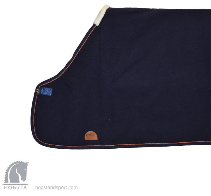 Wool Rug - navy/copper