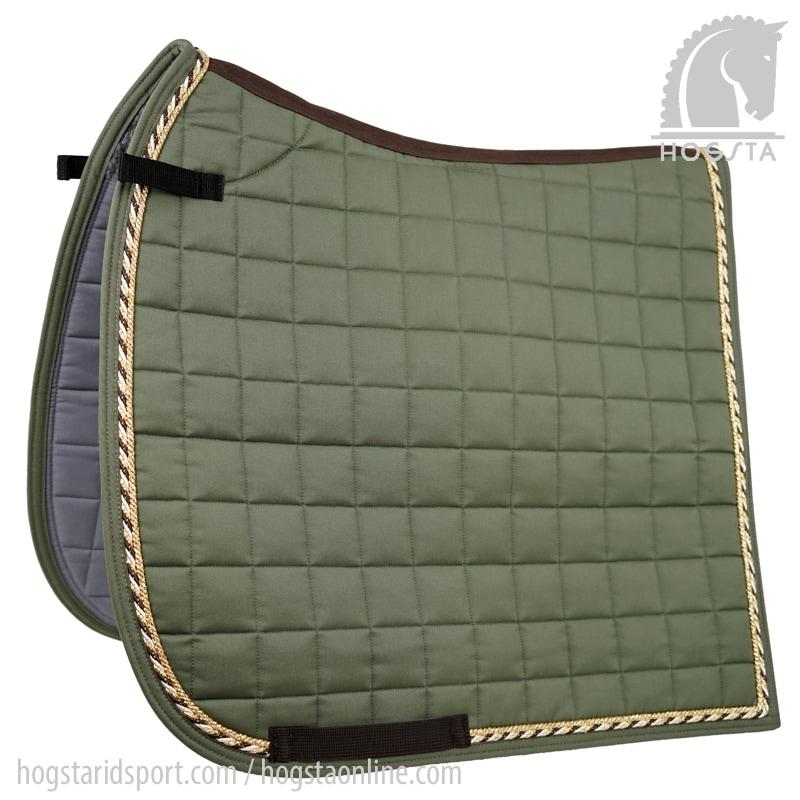 Dressage saddle pad - Olive/gold