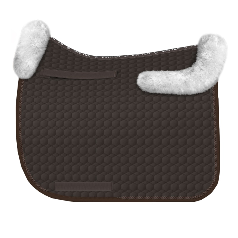 Dressage Saddle Pad - Brown/White