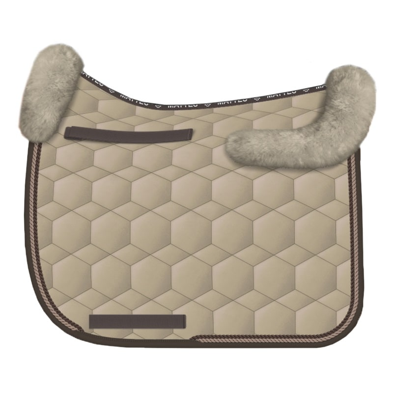 Sheepskin Dressage saddle pad - Safari