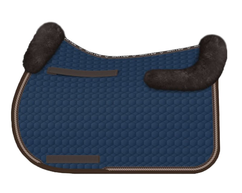 Sheepskin All-Purpose saddle pad - Navy
