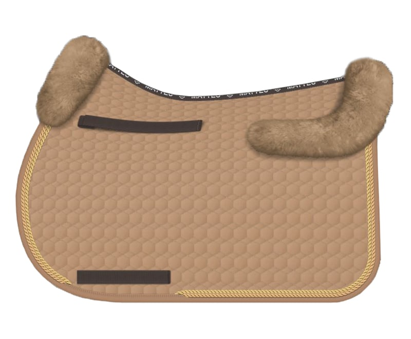 Sheepskin All-Purpose saddle pad - sand