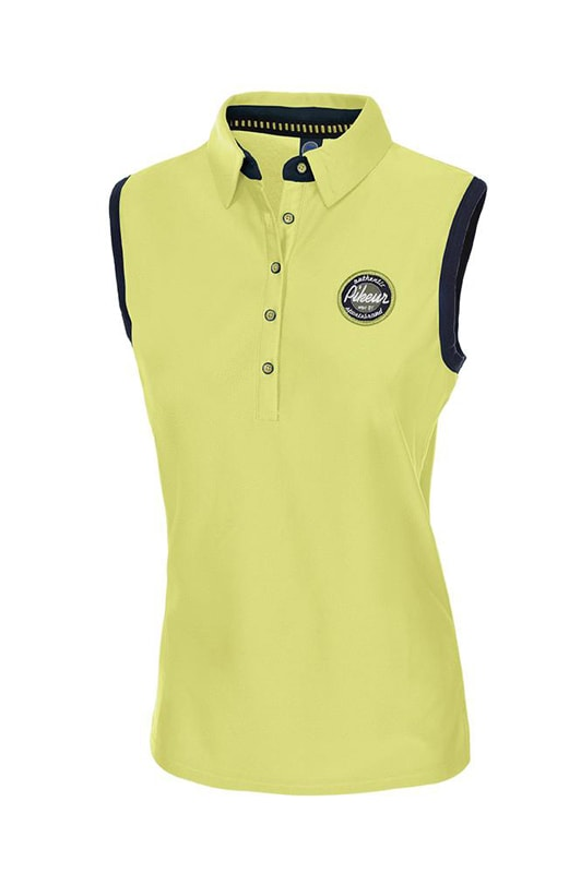 Jarla sleeveless polo - Lime
