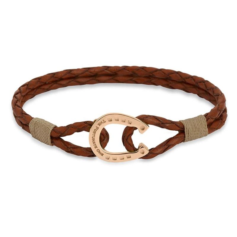 Bracelet double - Palomino/Rose gold