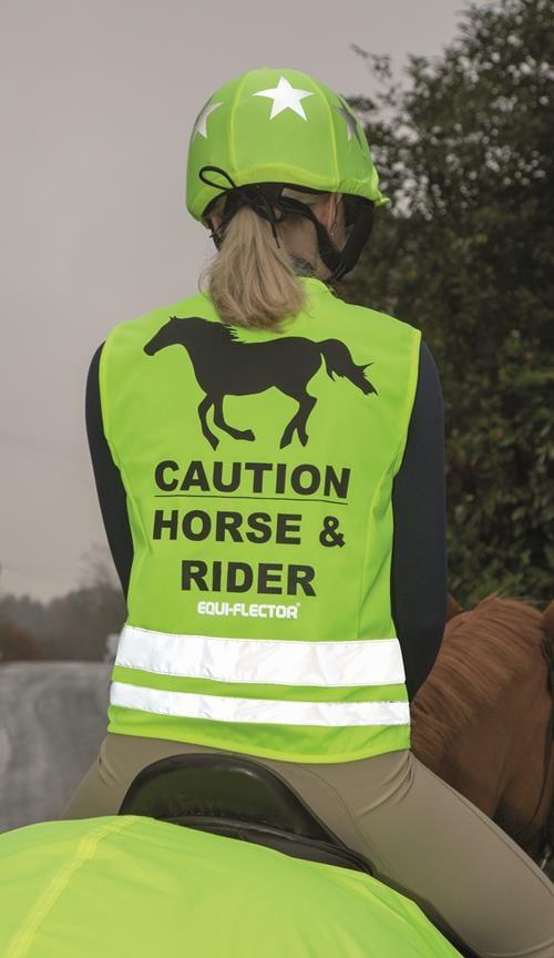 Thin reflex vest for riders