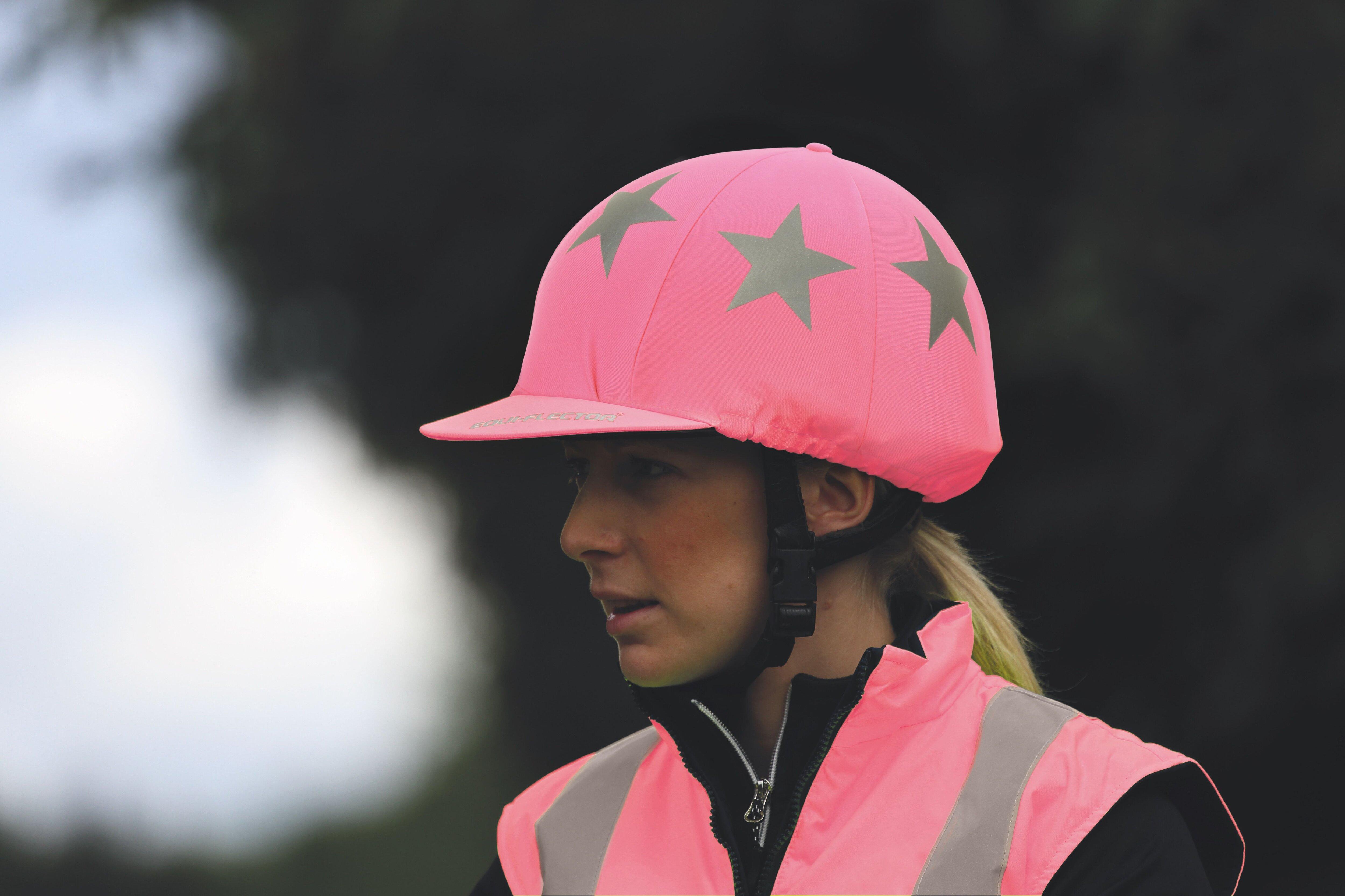 EQUI-FLECTOR® rosa ridhjälmsreflex