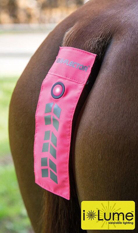 Flashing Tail Strap - pink