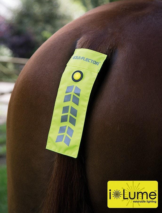 Flashing Tail Strap - yellow
