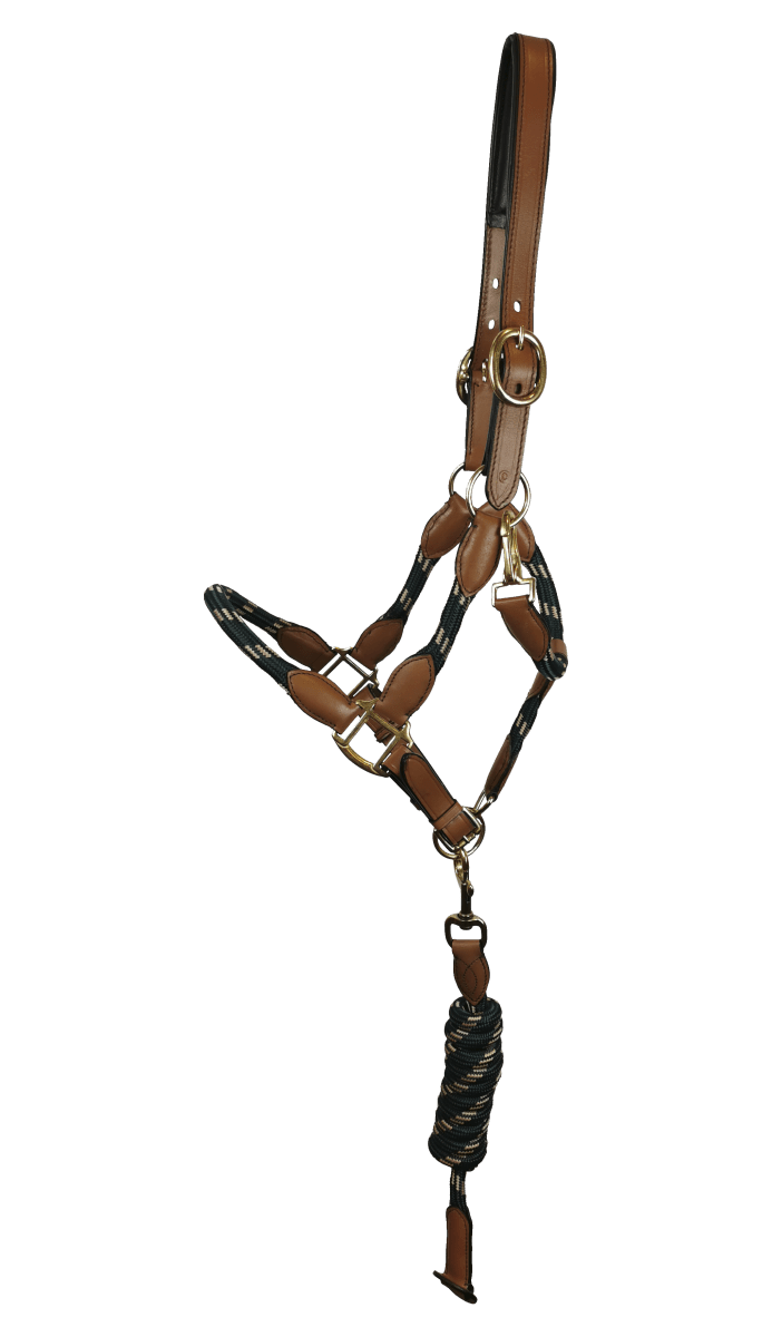 Halfter Leder/Seil - Grün