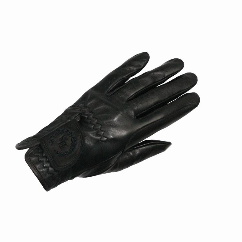 Leather glove - black