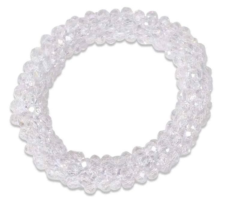 Shiny Beads Scrunchie - Crystal