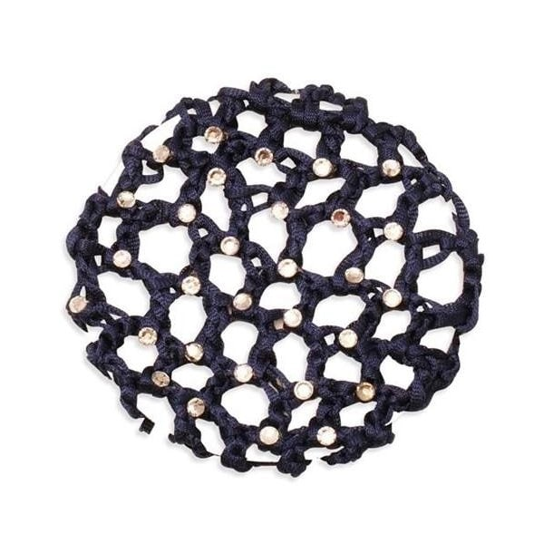 Hair net with crystals - Navy