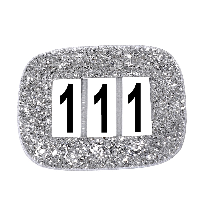 Glitter numbers holder - Silver
