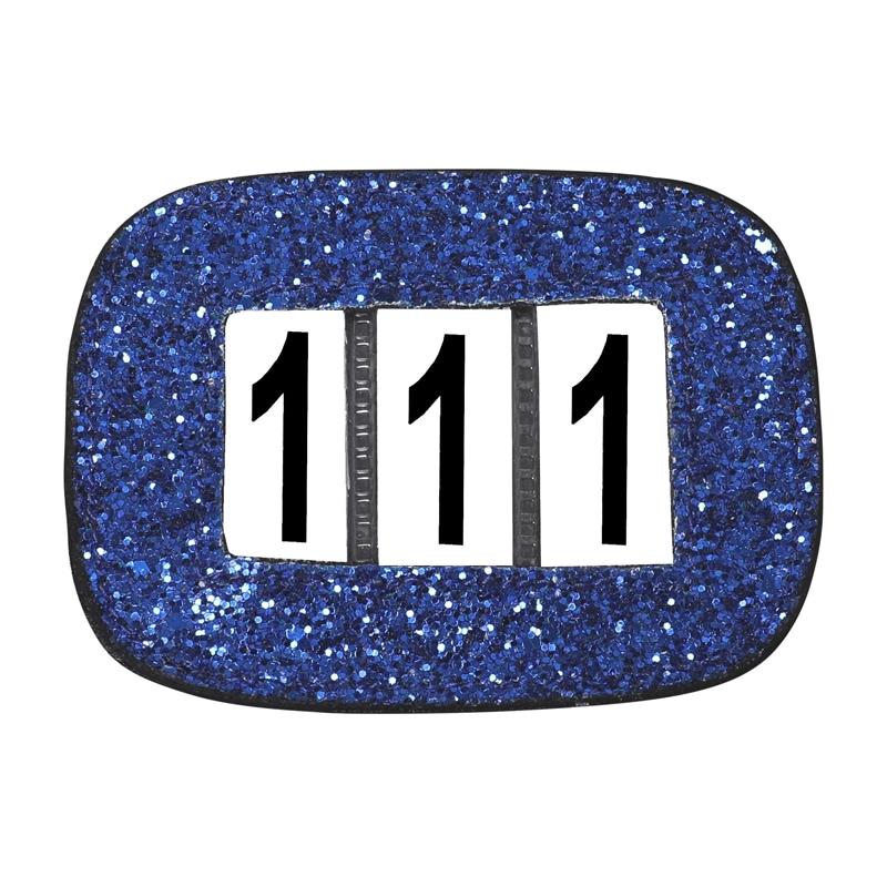 Glitter numbers holder - Blue