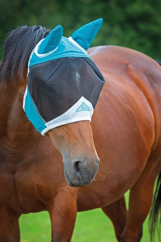 Fly mask with ear covers