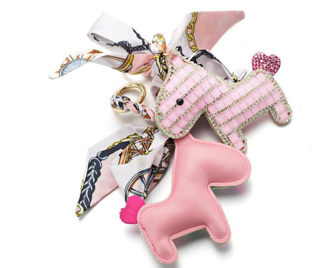 Crystal Horse Keychain - Pink