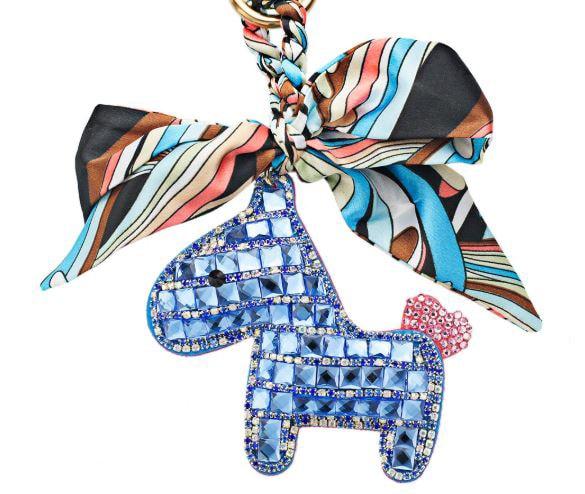 Crystal Horse Keychain - Blue