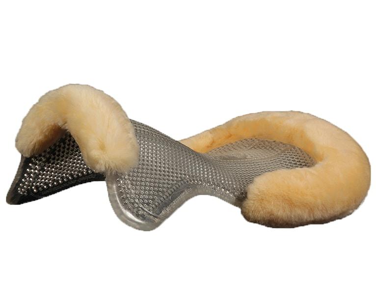 Gel pad with lambskin
