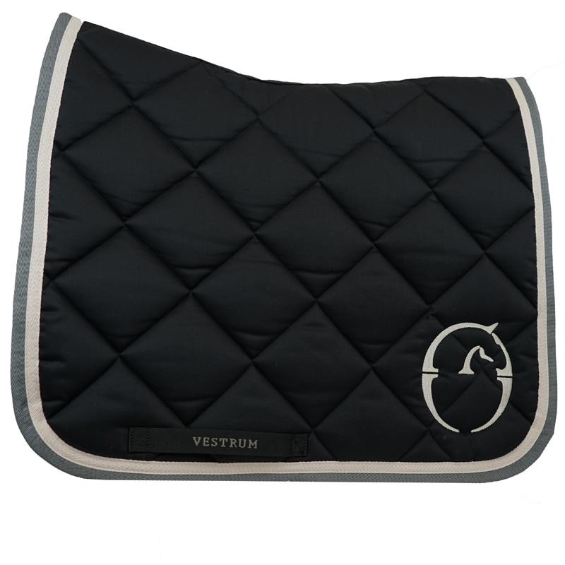 Dressage saddle pad Chicago - Black/Grey/White