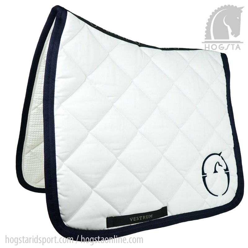 Dressage saddle pad Chicago - White/Navy